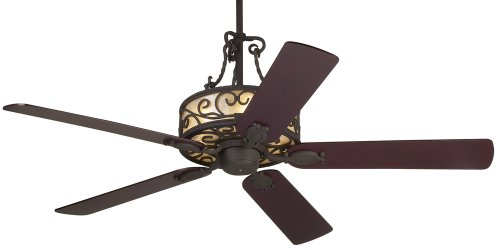 """Price comparison product image 60"""" John Timberland Natural Mica Collection Iron Ceiling Fan"""