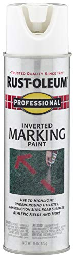 Rust-Oleum 2592838 Professional Inverted Marking Spray Paint, 15 oz, White