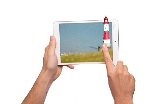 LAMINATED 36x24 inches Poster: Tablet 3D Aircraft Display Ipad Iman Action Holiday Sea Dunes Lighthouse Water Red White Blue Lake Warning Light Ship Dark Film Flight Sky Active Fun Joy