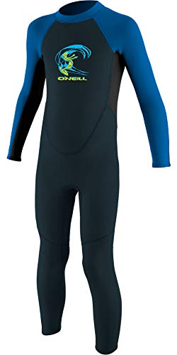 O Neill Toddler Reactor II 2mm Back Zip Shorty Kids Wetsuit Age 6 Slate Light Aqua Ocean