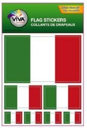 Italia Italy Country Flag Collection of 7 Different Size Decal Stickers New in Package