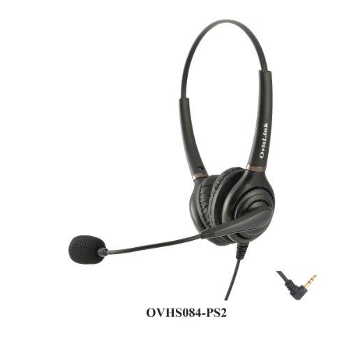 Ovislink Dual Ear Call Center Headset for Polycom SoundPo...