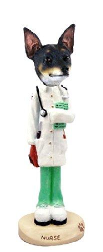 Rat Terrier Nurse Doogie Collectable - Terrier Figurine Rat