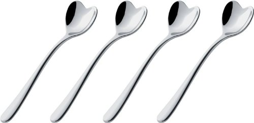 Alessi La Conica Espresso Maker by Aldo Rossi - 6 Cups with Free Set of Alessi Coffee Spoons