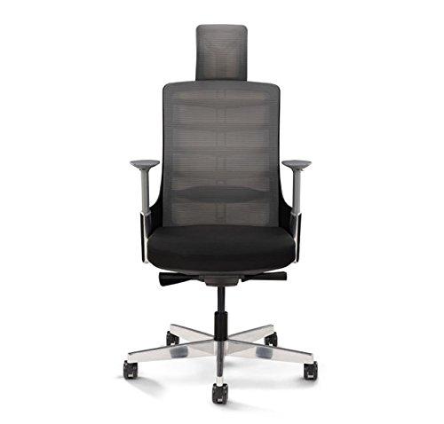 Vert人間工学オフィスチェアby Upliftデスク(ブラック)   B07D2KR6CP