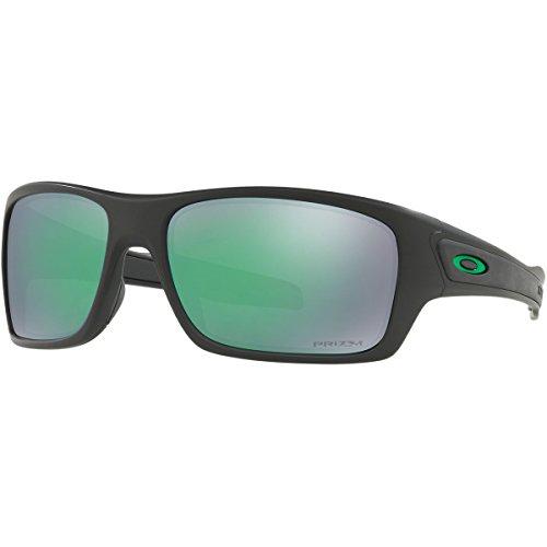 Oakley Mens Turbine Polarized Sunglasses, Matte Black/Prizm Jade Pol,OS - Oakley Green