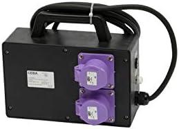 Caja Transformador de Obras 24 V con protección diferencial – 2 Soportes P17 24 V 16 A Transfo 500 VA – 3M de Cable H07RNF 2 x 2, 5 – IP44: Amazon.es: Bricolaje y herramientas