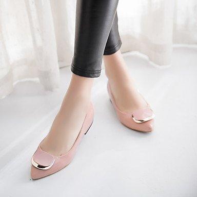 Le donne sexy elegante sandali donna tacchi Primavera Estate Autunno Inverno altri PU Office & Carriera Party & abito da sera bassa fibbia tacco Nero Bianco Rosso nudo , nero , us8 / EU39 / UK6 / CN39
