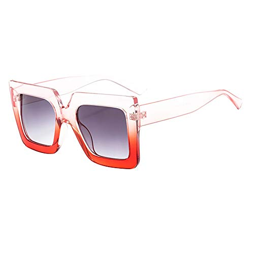 Classic Big Frame Glasses for Women Men Sunglasses Vintage Retro Unisex Eyewear ()