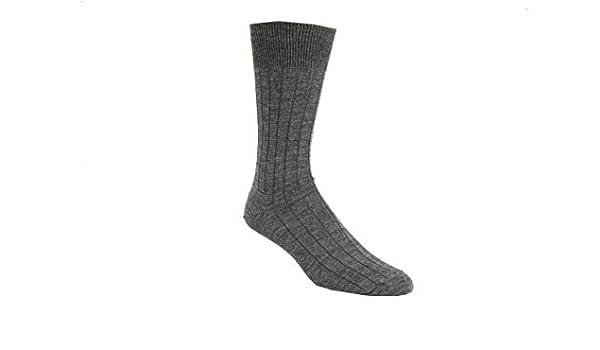 6 Pairs Charcoal Vagden Broad Rib Merino Wool Dress Sock Boutique Length