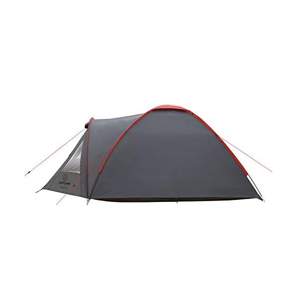 JUSTCAMP Scott Campingzelt mit Vorraum, Iglu-Zelt für 3 od. 4 Personen (doppelwandig), Kuppelzelt