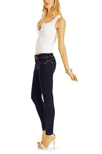 pantalon fit en j45k slim taille jean Bestyledberlin Bleu jean basse femme 7dBwqgxUx