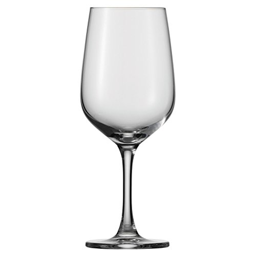 D&V Valore Lead Free, Break-Resistant, European Crystal Glass, Full Bodied White or Light Red Wine Glass, 12 Ounce, Set of 6