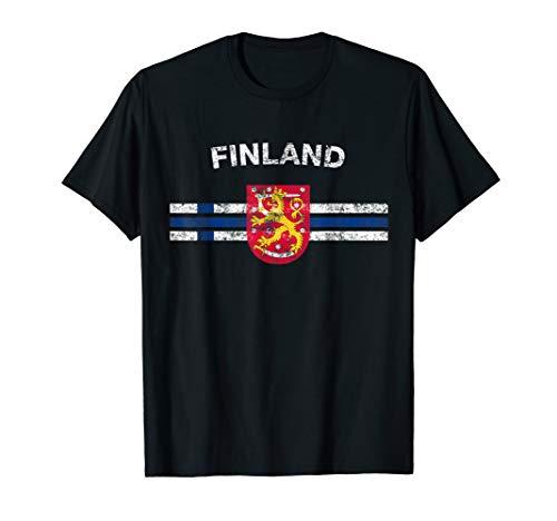 Finnish Flag Shirt - Finnish Emblem & Finland Flag Shirt