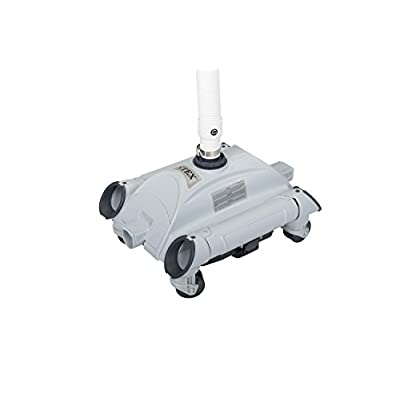 Intex Automatic Above-Ground 1, 600-3, 500 GPH Pool Vacuum with Pool Skimmer Net : Garden & Outdoor