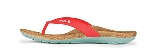 SOLE Beach Flips - Womens Orthotic Sandals Ruby - 9 ()