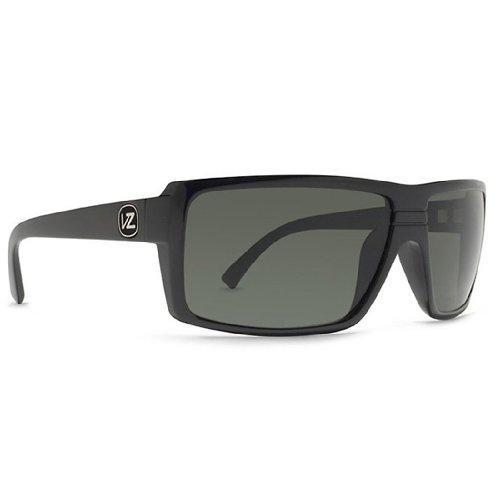 angular Sunglasses,Black Gloss & Grey,One Size (Von Zipper Black Gloss)
