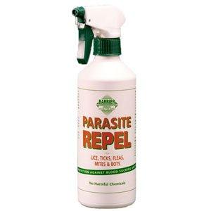 100% Natürliches Insektenabwehrmittel von Barrier für Pferde- wehrt allen Arten von beißenden und blutsaugenden Läusen, Milben, Mücken, Zecken, Kriebelmücken etc für bis zu 24 Stunden ab (500ml oder 5 L)