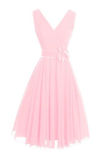 Del Vestito Delle Pink Della D'onore Da Dasior Donne Damigella V Breve Madre Partito Collo Twd5q7H