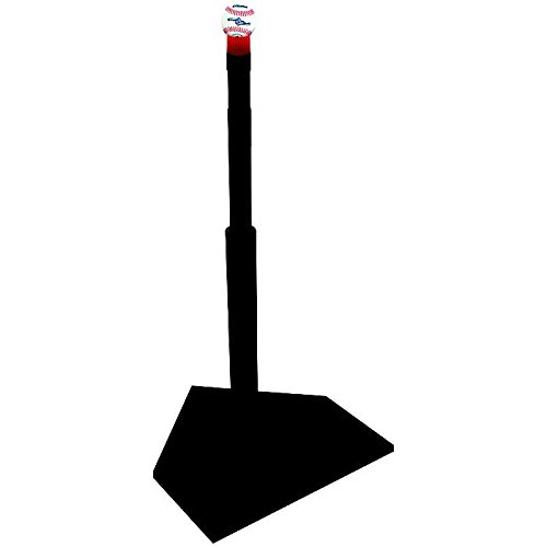 Champro Dlx Rubber Batting Tee with BrushTop, Black, 21'' to 36'' by CHAMPRO