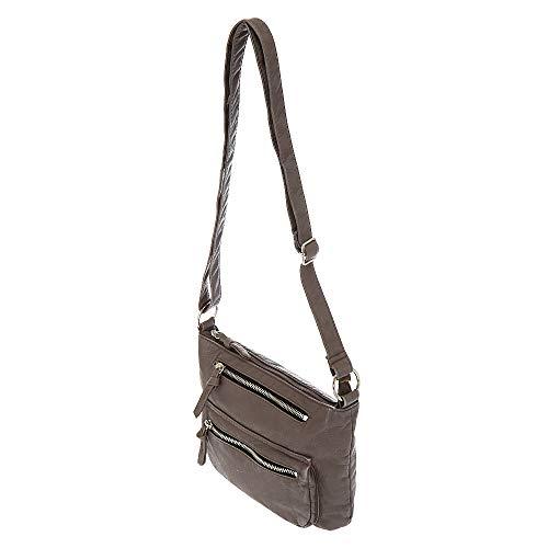 Crossbody Bag Gray Leather Faux M Girl's Claire's xqfAtt