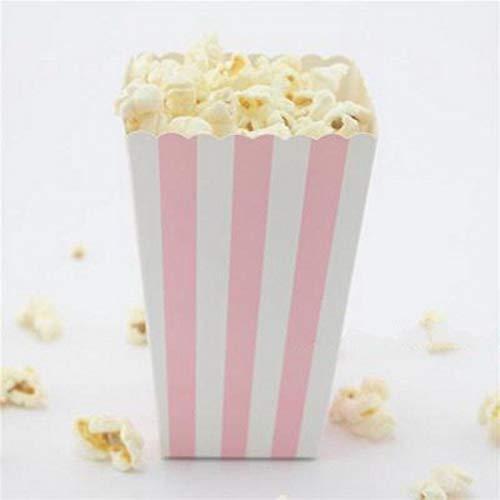Xiaogongju 12Pcs Multi Color/Pattern Paper Popcorn Boxes Halloween