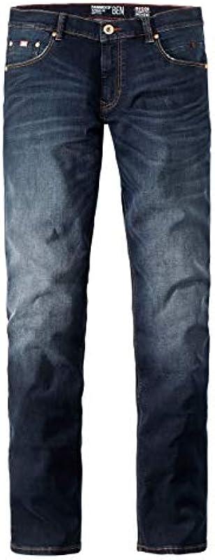Paddocks`s męskie dżinsy Motion & Comfort Ben - Tapered Fit - niebieskie - Special Blue Rinse Uded Moustache: Odzież