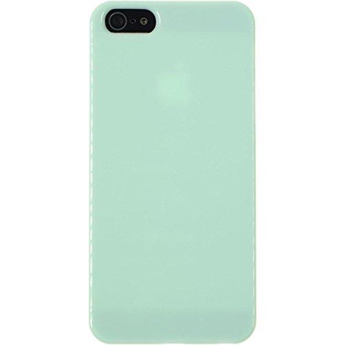 PhoneNatic Case für Apple iPhone 5 / 5s / SE Hülle grün Candy Hard-case für iPhone 5 / 5s / SE + 2 Schutzfolien