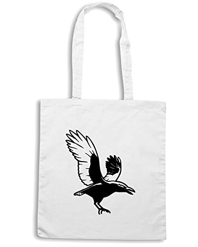 ANIMALS ANIMAL Bianca CROW FUN1105 95223 Shopper CROWS Borsa zqn1x1