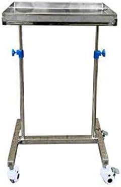 手術トレイとメディカルカートトロリーポータブル医療トロリー、高さ調節可能な機器ユーティリティカート、病院工具ホルダ - 40x60x120cm (Color : Regular)