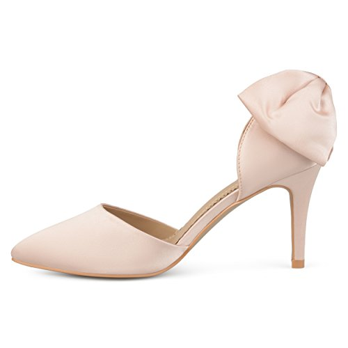 Journee Collection Bowknot Orteil Pointu Dorsay Pumps Blush