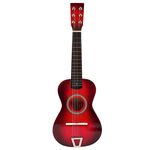 HMANE 23 Inches Children 6 Strings Classical Guitar Wooden Musical Instrument Toys – (Red)