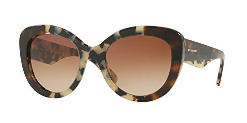 Burberry Women's BE4253 Sunglasses Top Havana On Beige Havana/Brown Gradient - Beige Havana Sunglasses