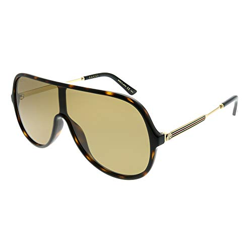 (Gucci Brown Rectangular Sunglasses GG0199S 003 99)