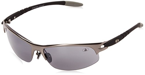 Ironman Men's Tolerance Wrap Sunglasses, Satin Gunmetal, 67 - Ironman Sunglasses