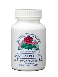 Ayush Herbs Neem Plus Herbal Supplement, 90 Count (2-pk) by Ayush Herbs