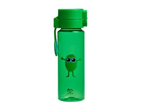 Tinc Kids' Hugga Tribal Character Design Flip and Clip Lockable Leak-Proof Water Bottle, Green, 500 ml FCWBHUGR