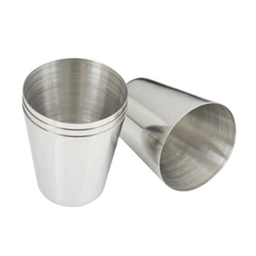 Baost 1Pc 30ml Stainless Steel Stemless Glass Wine Cups Unbreakable Outdoor Camping Hiking Polished Mini Metal Mugs Whiskey Liquor Cup Travel Water Mug Metal Drinking Tumblers M