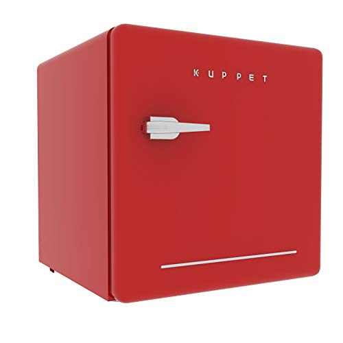 Buy Bargain KUPPET Classic Retro Compact Refrigerator Single Door, Mini Fridge with Freezer, Small D...