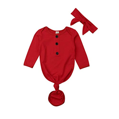 - Baby Nightgown Unisex Newborn Boy Girl Sleeper Gowns Stripe Sleeping Bags Swaddle Sack Coming Home Outfit 0-12M(6-9 Months, Red)