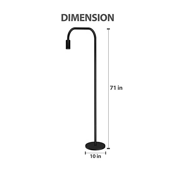 Addlon Floor Lamp with  E26 Socket - Tall Lamp for Living Room & Office - ✅【SATISFACTION WARRANTY】 3-year warranty !Your satisfaction is first. If you are not fully satisfied for any reason, please contact us. ✅【STURDY AND SAFE USE】: The well weighted, high-stability base prevent being tipped over by anyone includes the aged, child, pets. ✅【Creat Your Own Style】The Industrial floor lamp built-in e26 socket allows you to customize your stylish lamps with different shapes of light bulbs.(Bulbs are sold separately) - living-room-decor, living-room, floor-lamps - 313WDSDeBOL. SS570  -