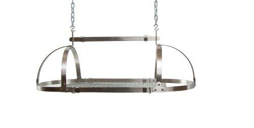 Advantage Components SPR1001 Adjustable Oval Pot Rack, Stainless Steel