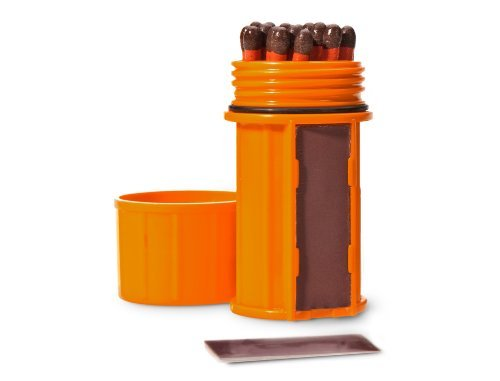 Large Product Image of UCO Stormproof Match Kit with Waterproof Case, 25 Stormproof Matches and 3 Strikers - Orange