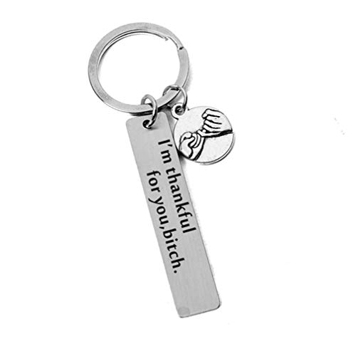 (Myhouse Letter 'I'm Thankful for You' Friendship Keychain Alloy Creative Gadget Pendant Keychain Hanging Ornament Keyring Key Chain Charms Findings Gift)