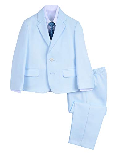 Van Heusen Boys' Toddler 4-Piece Formal Dresswear Suit Set, Blue Raindrop 3T