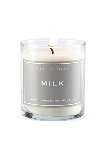 K.Hall Designs Milk (Vanilla, Coconut & Milk) Scented Vegetable Wax - Vegetable 60 Candle Wax Hour
