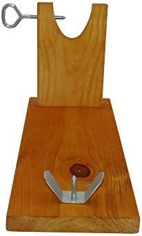 BRICOMIRAS JAMONERO Modelo BANQUETA Color Miel, Regalo Cuchillo + CHAIRA + CUBREJAMÓN, Soporte JAMONERA Ideal para Uso DOMÉSTICO (Cubrejamón Verde)