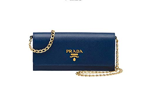 Ladies Saffiano Calfskin Blue Prada Shoulder Bag