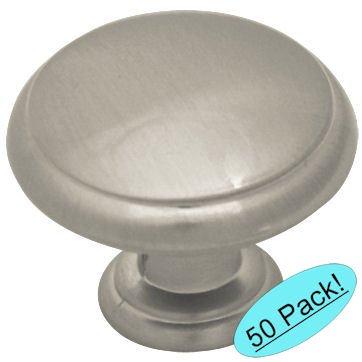 Cosmas 5422SN Satin Nickel Cabinet Hardware Mushroom Knob - 1-3/16
