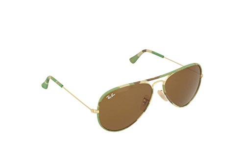 Ray-Ban AVIATOR FULL COLOR - GOLD Frame BROWN Lenses 58mm - Ray Brown Aviator Full Color Ban